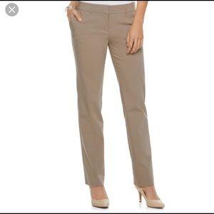 APT 9 NWT Modern Fit Tan Straight Leg Pants
